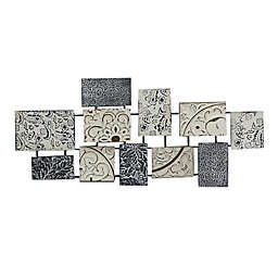 Global Caravan™ Metal Square 18.1-Inch x 41.6-Inch Wall Art