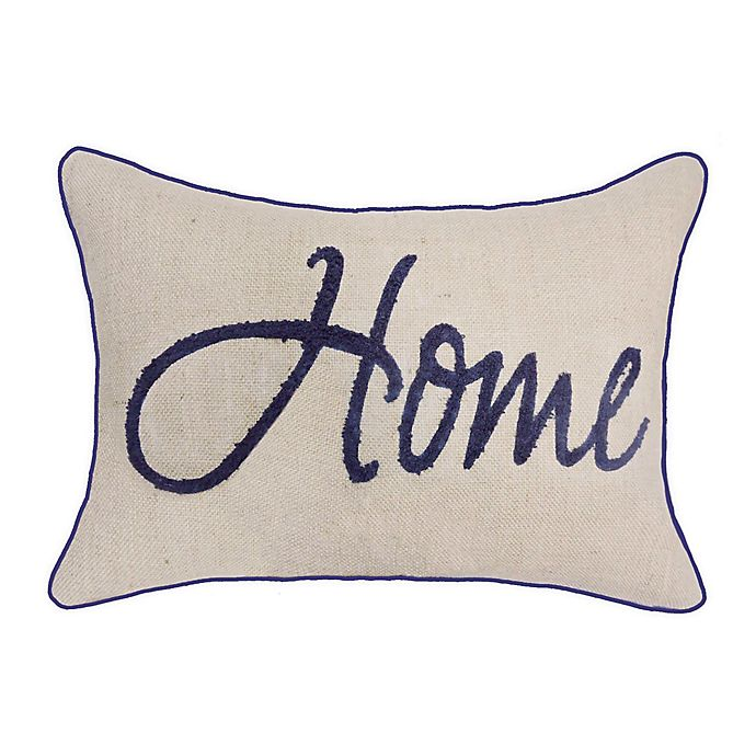 Alternate image 1 for Bee & Willow™ Home Americana Oblong Throw Pillow in Natural/Navy