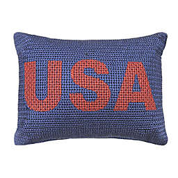 Bee & Willow™ Home USA Oblong Throw Pillow in Red/Blue