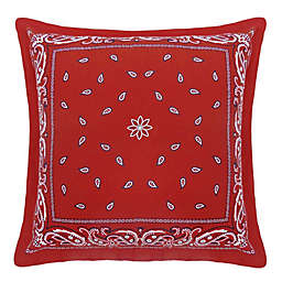 Bee & Willow™ Home Bandana Square Throw Pillow in Red