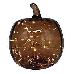 Bee & Willow™ Home Harvest 10-Inch Glass LED Pumpkin in Amber