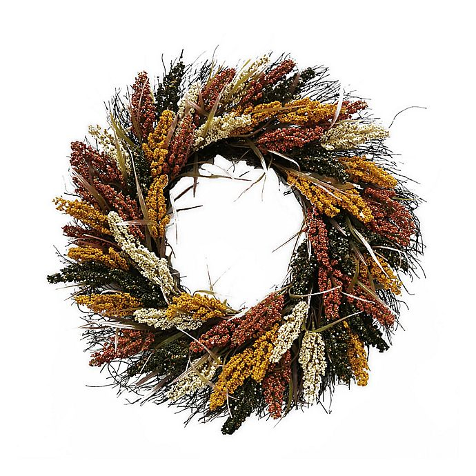 Bee Willow Home Harvest 22 Inch Faux Heather Wreath Bed Bath Beyond