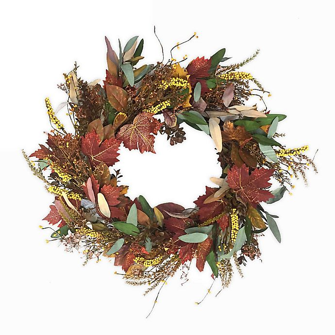 Alternate image 1 for Bee & Willow™ Home Harvest 22-Inch Autumn Leaves Wreath