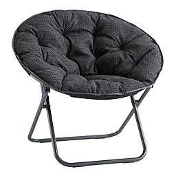 SALT™ Foldable Waffle Saucer Chair in Grey