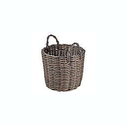Bee & Willow™ Home Medium Round Basket in Grey