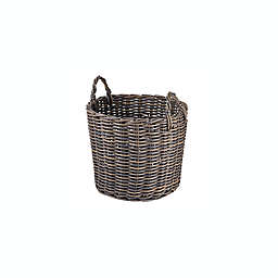 Bee & Willow™ Home Large Round Basket in Grey