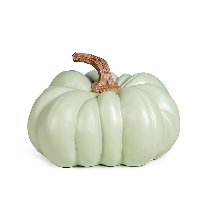 Alternate image 1 for Bee & Willow™ Home 8.9-Inch Resin Pumpkin in Sage Green