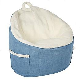 SALT Large Round Bean Bag Chair in Coconut
