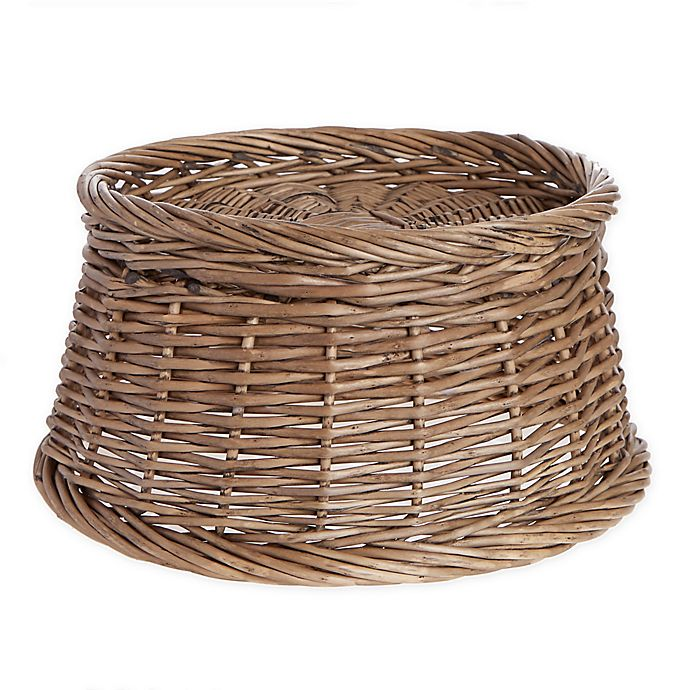 Alternate image 1 for Bee & Willow™ Home Wicker Beverage Dispenser Stand in Grey