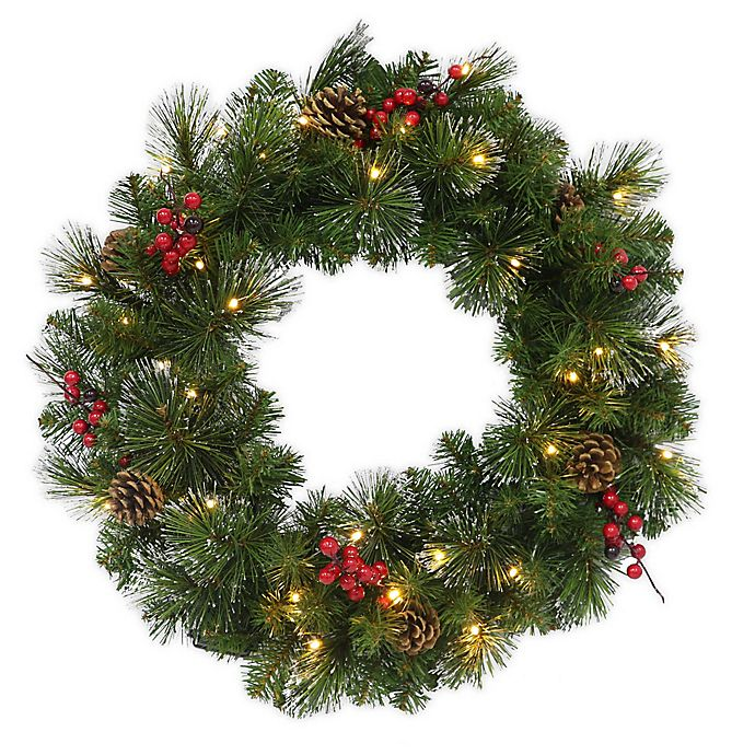 Alternate image 1 for 24-Inch Traditional Frosted Berry Artificial Wreath