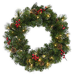 24-Inch Traditional Frosted Berry Artificial Wreath