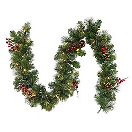 6-Foot Traditional Frosted Berry Garland (Set of 2)