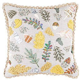 Bee & Willow™ Home Multi Leaf Embroidered Square Throw Pillow