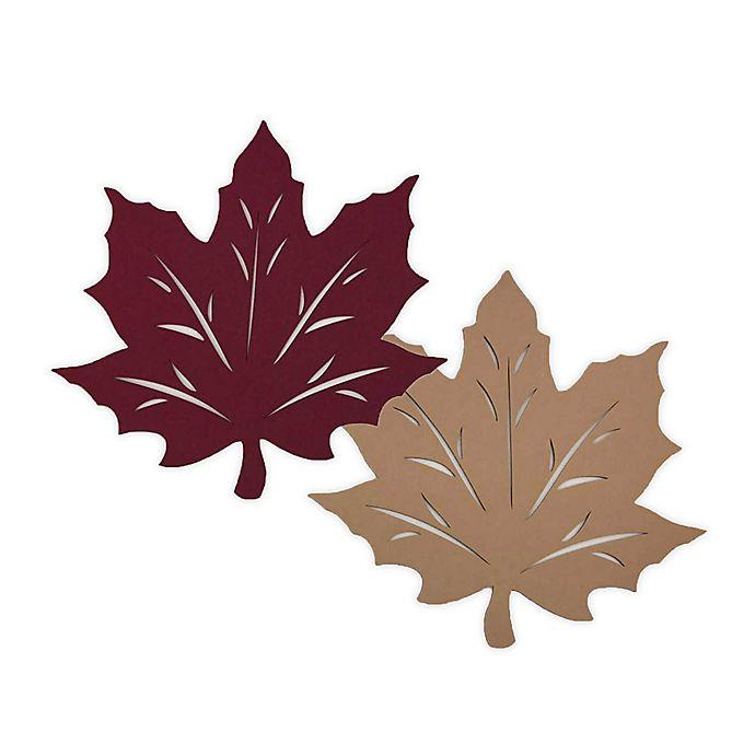 Alternate image 1 for Melange Felt Leaf Reversible Placemat