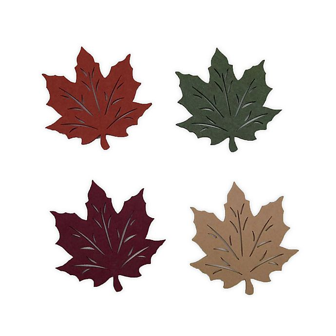 Alternate image 1 for Felt Leaf Coasters (Set of 4)