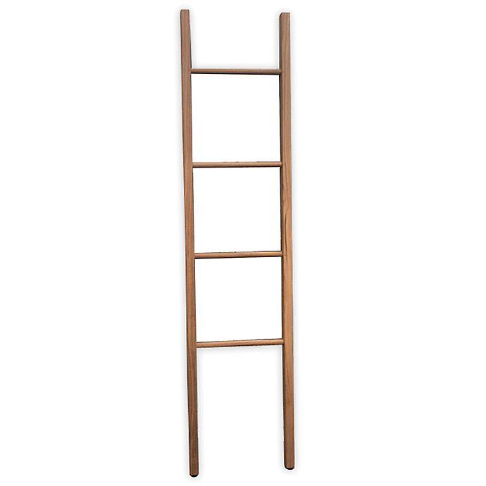 Alternate image 1 for Haven™ Teak Ladder Towel Rack in Honey