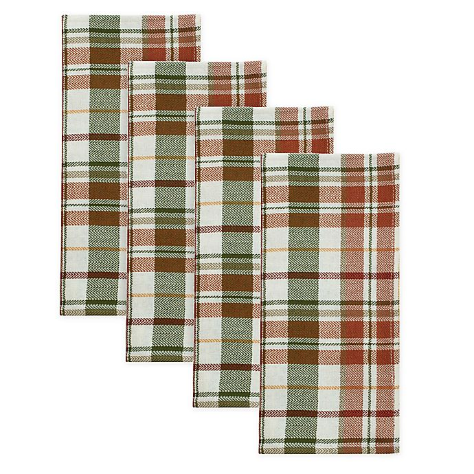 Alternate image 1 for Bee & Willow™ Home Harvest Plaid Napkins (Set of 4)