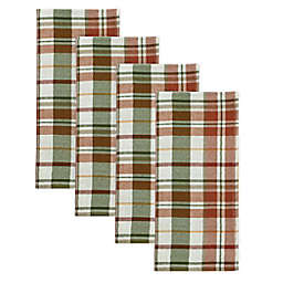 Bee & Willow™ Home Harvest Plaid Napkins (Set of 4)