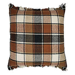 Bee & Willow Home™ Fringe Plaid Square Throw Pillow in Spice