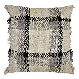 Bee & Willow Home™ Fringe Chenille Plaid Square Throw Pillow in Cream