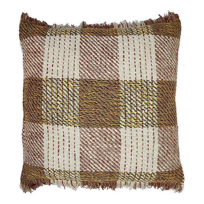 Alternate image 1 for Bee & Willow Home™ Fringe Checkered Square Throw Pillow