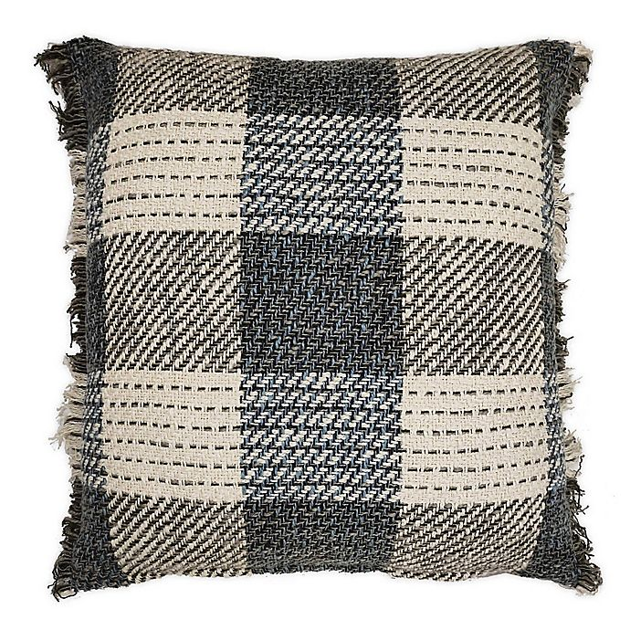 Alternate image 1 for Bee & Willow Home™ Fringe Checkered Square Throw Pillow in Autumn