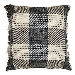 Bee & Willow Home™ Fringe Checkered Square Throw Pillow in Autumn