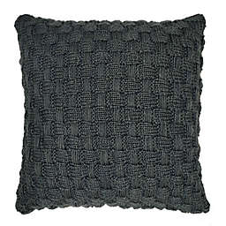Bee & Willow™ Home Knit Square Throw Pillow in Blue Basket