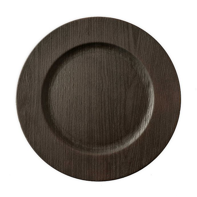 Alternate image 1 for Bee & Willow™ Home Wood Charger Plate in Walnut