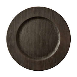 Bee & Willow™ Home Wood Charger Plate in Walnut