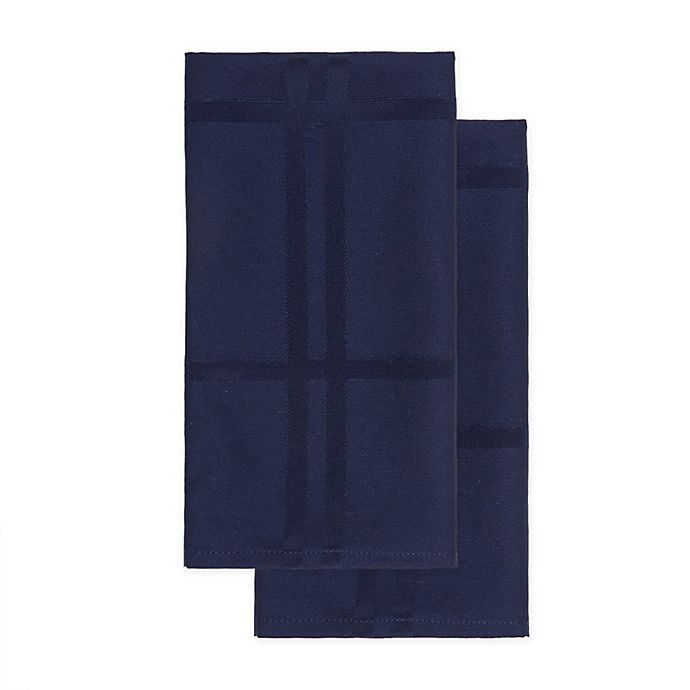 Alternate image 1 for Wamsutta® Solid Napkins in Indigo (Set of 2)
