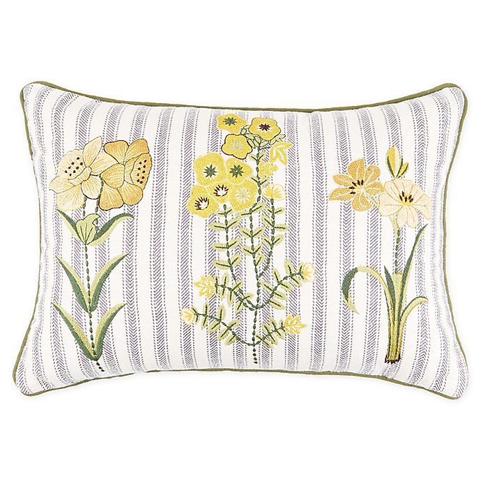 Alternate image 1 for Bee & Willow™ Home Argyle Garden Rectangle Embroidered Throw Pillow