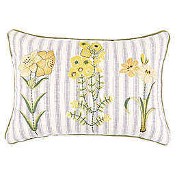Bee & Willow™ Home Argyle Garden Rectangle Embroidered Throw Pillow
