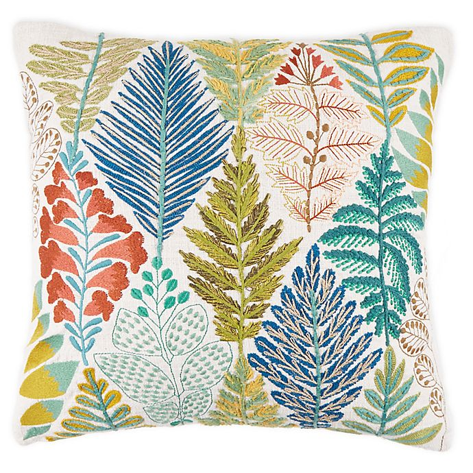 Alternate image 1 for Bee & Willow™ Home Argyle Garden Square Embroidered Throw Pillow