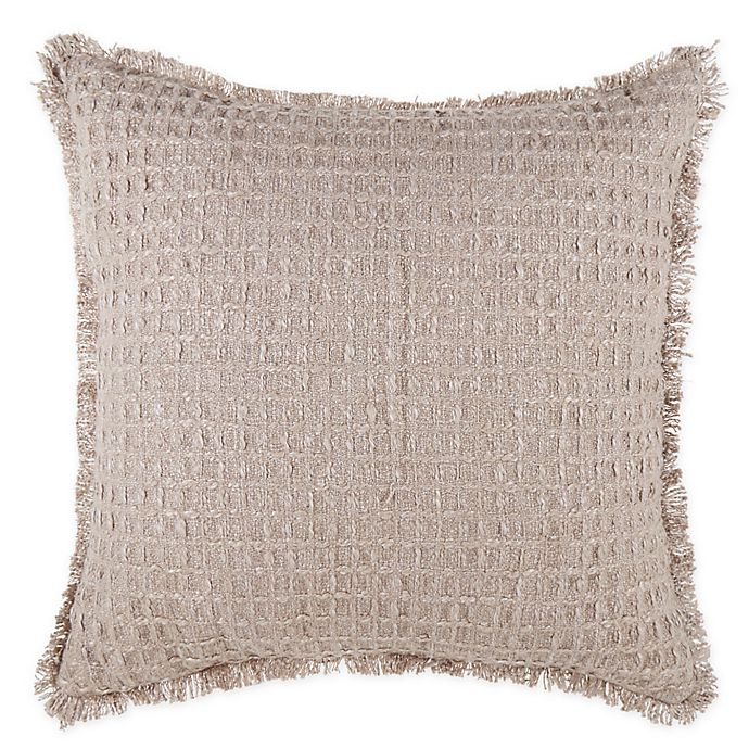 Alternate image 1 for Bee & Willow™ Home Textured Waffle Fringe Throw Pillow