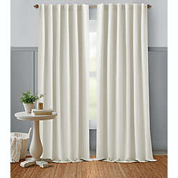 Bee & Willow™ Home Textured Weave 95-Inch Rod Pocket Curtain Panel in Coconut Milk