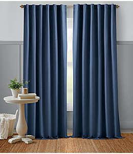 Cortina de algodón Bee & Willow™ Home 2.13 m color azul