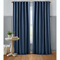 Bee & Willow™ Home Textured Weave 63-Inch Rod Pocket Window Curtain Panel in Blue