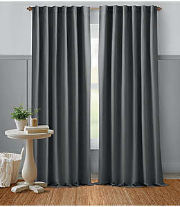 Cortina de algodón Bee & Willow™ Home con dobladillo 2.41 m color gris gárgola