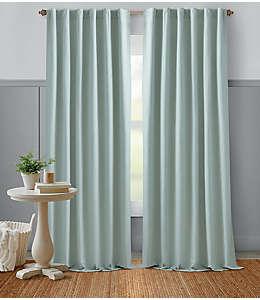 Cortina de algodón Bee & Willow™ Home 2.13 m color azul grisáceo