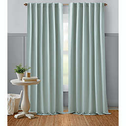 Bee & Willow™ Home Textured Weave 84-Inch Rod Pocket Curtain Panel in Sky Grey