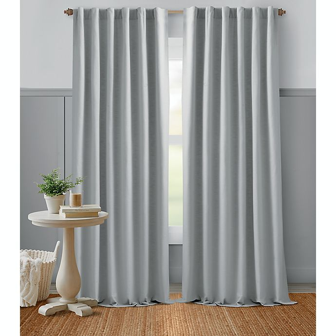 Alternate image 1 for Bee & Willow™ Home Textured Weave Rod Pocket Room Darkening Window Curtain Panel