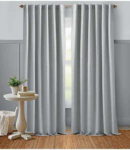 Cortina de algodón Bee & Willow™ Home con dobladillo 2.41 m color gris roca