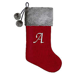 Knit Monogram Christmas Stocking
