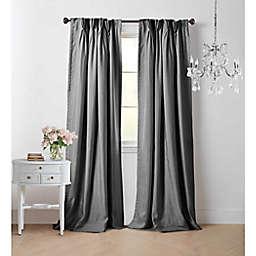Wamsutta® Vintage Manteux 108-Inch Pinch Pleat Window Curtain Panel in Charcoal