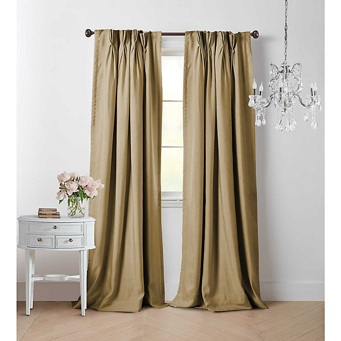 Alternate image 1 for Wamsutta® Vintage Manteux Viscose Silk Pinch Pleat Room Darkening Window Curtain Panel