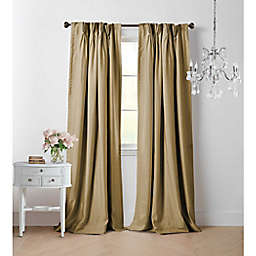 Wamsutta® Vintage Manteux 95-Inch Pinch Pleat Window Curtain Panel in Gold (Single)