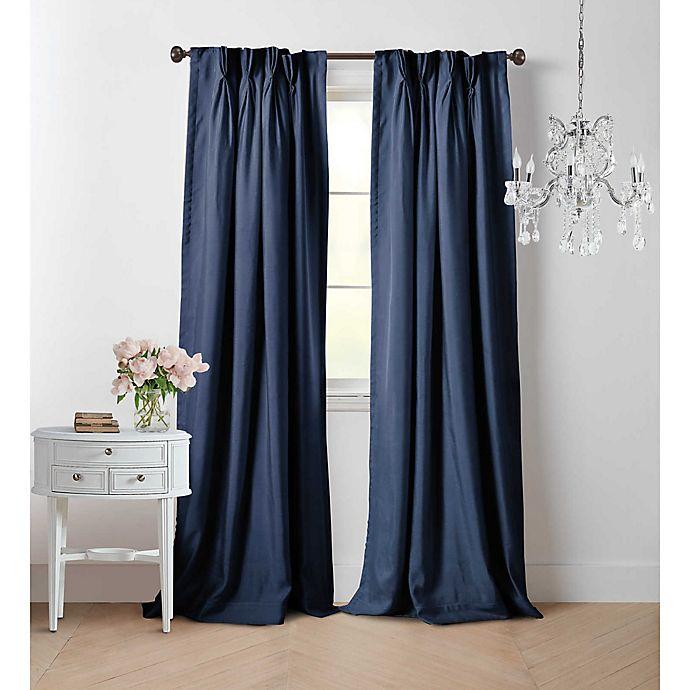 Alternate image 1 for Wamsutta® Vintage Manteux 63-Inch Pinch Pleat Window Curtain Panel in Navy