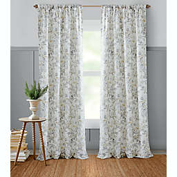 Bee & Willow™ Etched Rose 84-Inch Light Filtering Curtain Panel (Single)