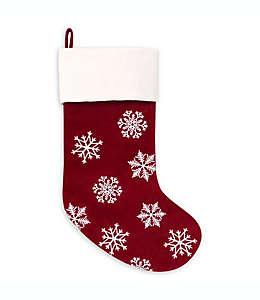 Bota navideña Traditional de fieltro color rojo/blanco